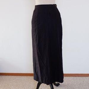 vintage Linen blend maxi skirt